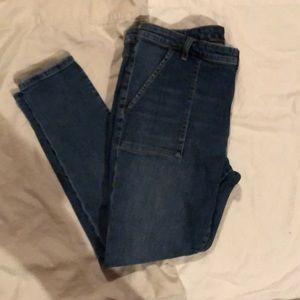 Chaps 16P Denim blue jeans straight leg